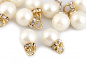 Přívěsek perla s rondelkou Ø12 mm