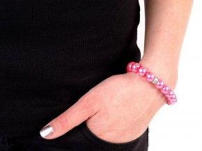 Pružný perlový náramek