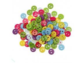 Knoflíky malé barevné