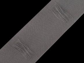 Záclonovka šíře 80 mm s poutky k navlečení na tyč; tužkové řasení