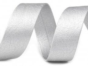 Šikmý proužek koženkový šíře 15 mm zažehlený nerozměřený