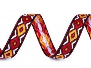 Prýmek / vzorovka indiánský motiv šíře 13 mm