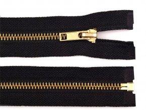 Kovový / mosazný zip šíře 6 mm délka 80 cm