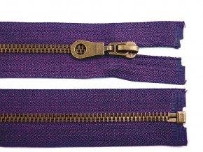 Staromosazný zip šíře 6 mm délka 65 cm bundový