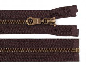 Staromosazný zip šíře 6 mm délka 80 cm bundový