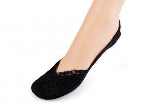 Ponožky do balerín s krajkou, bavlněné