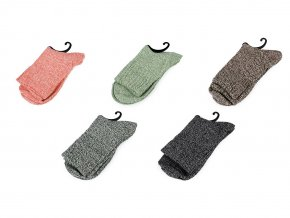 Ponožky teplé žíhané