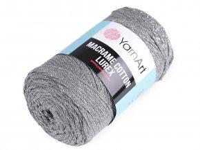 Pletací příze Macrame Cotton lurex 250 g