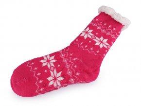Ponožky zimní s protiskluzem, dlouhé