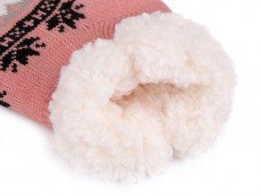 Ponožky zimní s protiskluzem, krátké