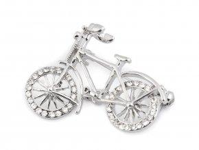 Brož s broušenými kamínky kolo