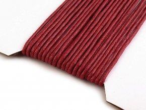 Šňůra bavlněná Ø2 mm voskovaná