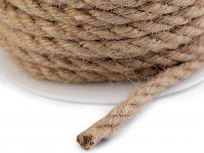 Jutová šňůra Ø5-6 mm kroucená