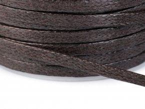 Šňůra / dutinka bavlněná plochá šíře 4 mm voskovaná