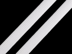 Polyesterová šňůra plochá / dutinka šíře 12 mm