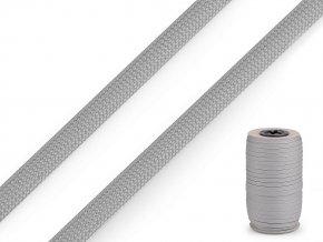 Polyesterová šňůra plochá / dutinka šíře 8 mm