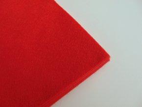Filc 1mm 20x30cm červený
