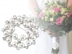 Perlová brož / svatební ozdoba na kytice