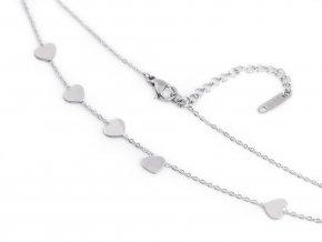 Náhrdelník z nerezové oceli srdce, hvězda, křížek