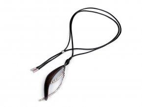 Dlouhý dřevěný designový náhrdelník