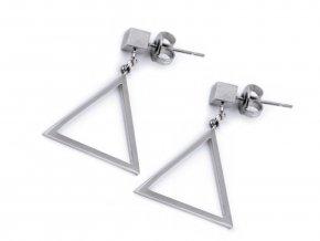 Náušnice z nerezové oceli trojúhelníky