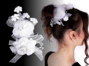 Brož / svatební ozdoba do vlasů květy