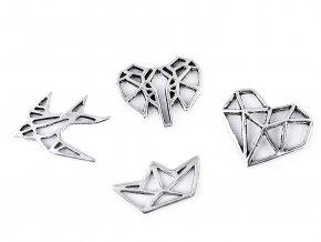 Ozdobný díl origami vlaštovka, loďka, srdce, slon