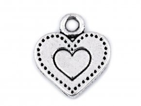 Přívěsek srdce 12x13 mm
