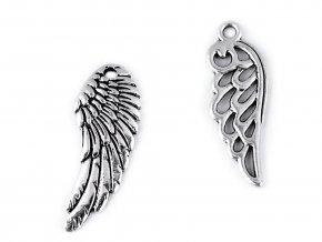 Přívěsek andělské křídlo 10x26 mm