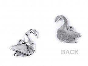 Přívěsek origami labuť, liška