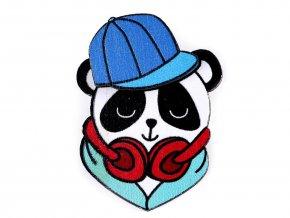 Dřevěná brož 3D panda, kočka