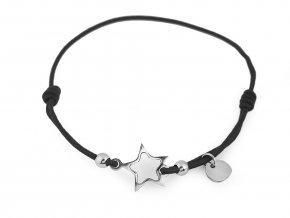 Náramek pružný hvězda, klíč, motýl z nerezové oceli