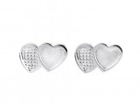 Náušnice z nerezové oceli mini srdce