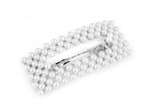 Francouzská spona do vlasů s perlami