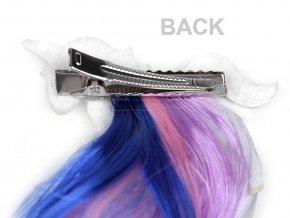 Pramínky vlasů se sponou jednorožec