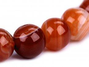 Náramek z minerálů, červený achát