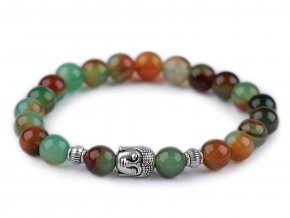 Buddha náramek achát multicolor, dámský