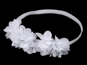 Pružná čelenka do vlasů s květy