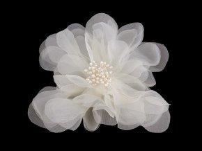 Brož / ozdoba květ Ø15 cm monofilový