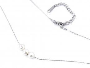 Náhrdelník z nerezové oceli s perlami