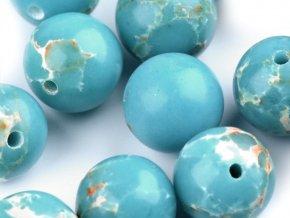 Minerálové korálky Modrý oceánový jaspis Ø8 mm