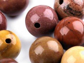Minerálové korálky Jaspis mookait Ø8 mm