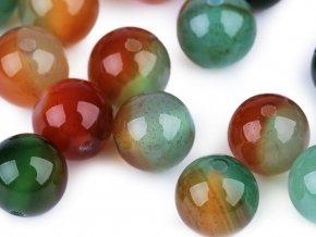 Minerálové korálky Achát multicolor Ø8 mm