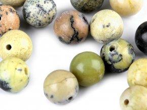 Minerálové korálky Žlutý tyrkys Ø6 mm
