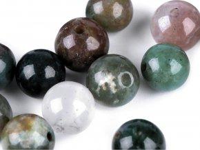 Minerálové korálky Indiánský achát Ø6 mm
