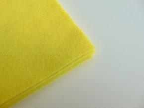 Filc 1mm 20x30cm žlutý