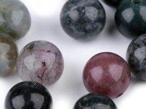 Minerálové korálky Indiánský achát Ø8 mm