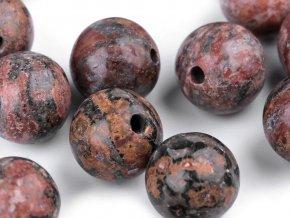 Minerálové korálky Jaspis leopardí Ø8 mm