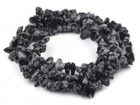 Minerálové zlomky Obsidián vločkový na silonu