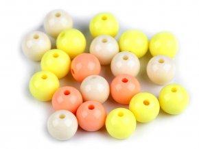Plastové korálky Color Ø10 mm barevný mix